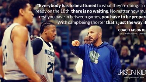 Jason Kidd, Bucks coach