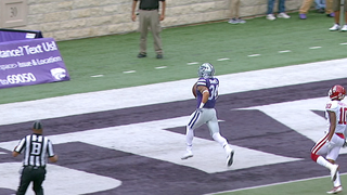 Alex Barnes takes it 75 yards to the house to give Kansas State an early 7-0 lead over Oklahoma