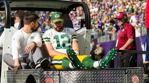 Green Bay Packers Aaron Rodgers injured