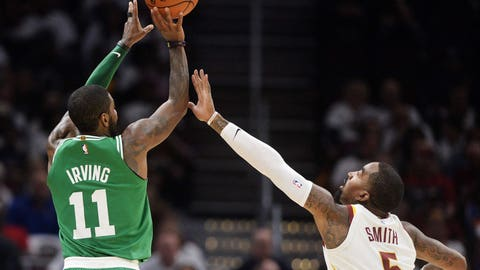 Irving's first game for Boston