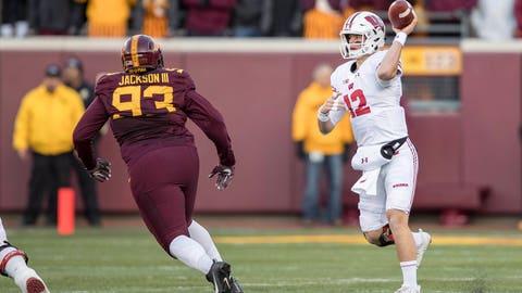 Alex Hornibrook, Badgers quarterback (↑ UP)