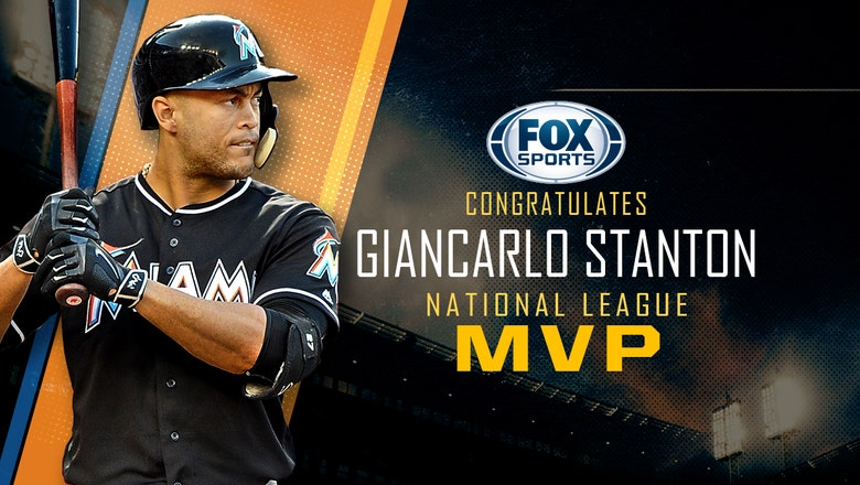 Giancarlo Stanton narrowly edges out Joey Votto, becomes first MVP in Marlins history