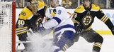 Lightning fall behind in 1st period, can't claw back in road loss to Bruins