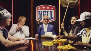 Rob Riggle as Jerry Jones assembles the National Football League League