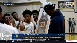 Thad Young's jersey retired at high school alma mater