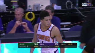 WATCH: Devin Booker's turnaround buzzer-beater sends Suns into OT