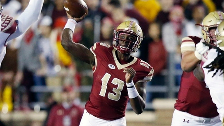 Boston College QB Brown leaves game with right leg injury
