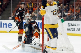 Josi, Predators hold off Ducks 5-3 in rematch of West finals