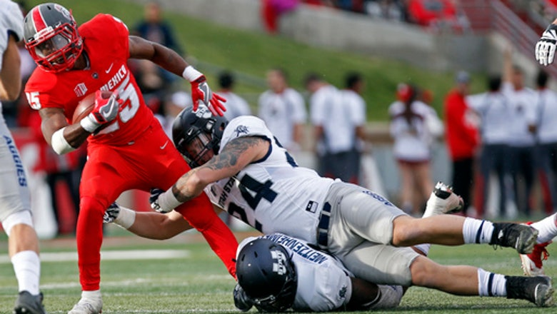 Utah State downs New Mexico 24-10 behind Hunt