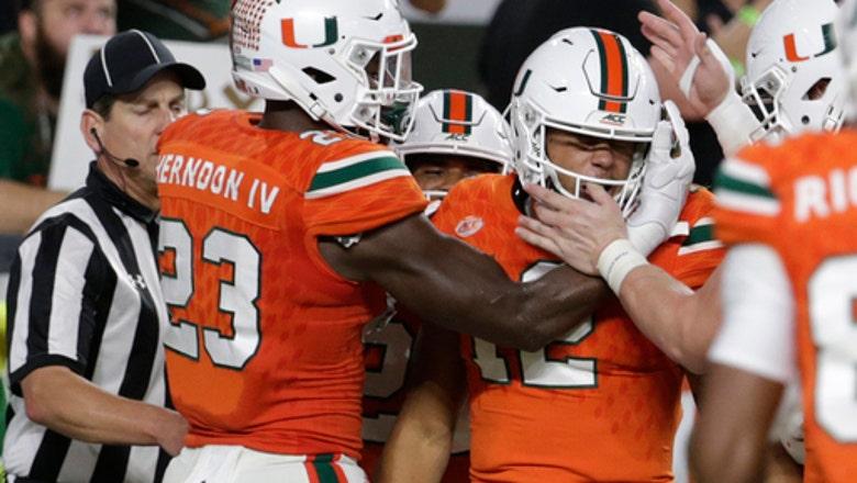 Miami in a rout: No. 7 Hurricanes roll No. 3 Irish, 41-8