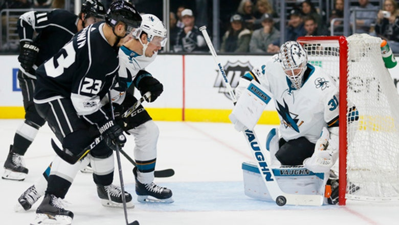 Ward's skate deflection goal tips Sharks past Kings, 2-1