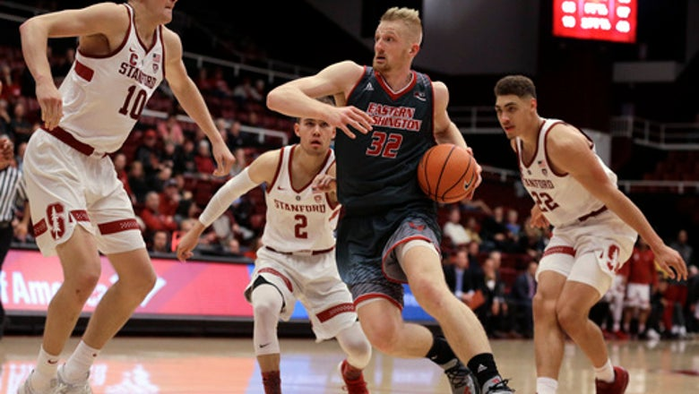 E. Washington tops Stanford  67-61 to end Pac-12 drought