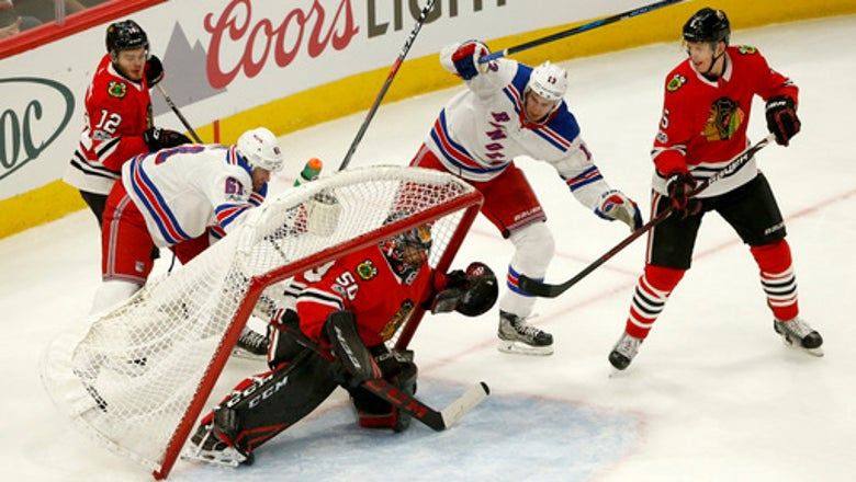 Anisimov scores 3 times as Blackhawks beat Rangers 6-3