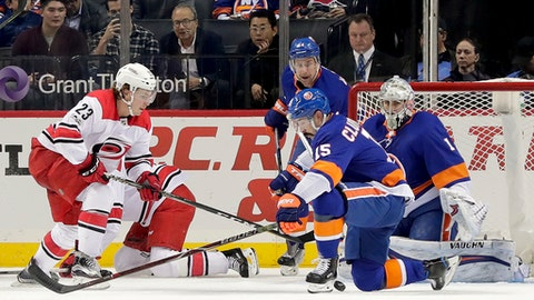 Islanders outgun Hurricanes in sloppy affair