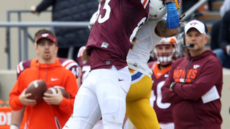 Late goal-line stand lifts Virginia Tech past Pitt 20-14