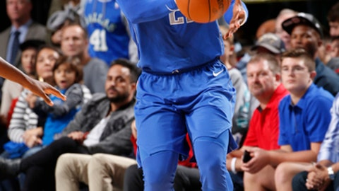 DALLAS, TX - NOVEMBER 18:  Wesley Matthews #23 of the Dallas Mavericks handles the ball against the Milwaukee Bucks on Novemeber 18, 2017 at the American Airlines Center in Dallas, Texas. NOTE TO USER: User expressly acknowledges and agrees that, by downloading and or using this photograph, User is consenting to the terms and conditions of the Getty Images License Agreement. Mandatory Copyright Notice: Copyright 2017 NBAE (Photo by Danny Bollinger/NBAE via Getty Images)