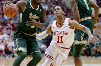 Hoosiers rely on defense to get past South Florida 70-53 (Nov 19, 2017)