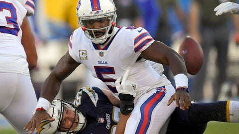 Bills revert to Tyrod Taylor as starting QB after Nathan Peterman disaster