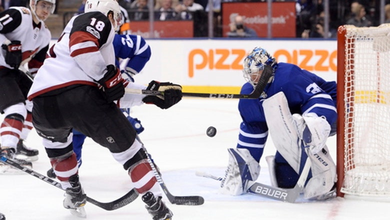 Coyotes win 4-1, stop Maple Leafs' win streak at 6 games