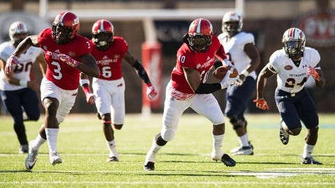 Jacksonville State defeated UT Martin in a 33-7 blowout victory at Burgess-Snow Field to claim their third consecutive OVC championship and the league's automatic berth in the FCS playoffs. Darius Jackson (40).