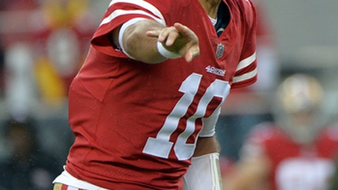 Jimmy Garoppolo throws TD pass in 49ers debut