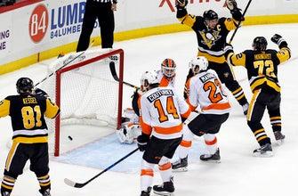 Crosby's OT winner lifts Penguins past reeling Flyers 5-4 (Nov 27, 2017)