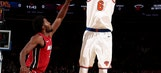 Porzingis leaves Knicks game with sprained right ankle