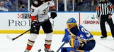 Gibson rebounds from rough outing, leads Ducks past Blues