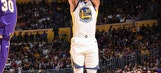 Curry comes through in OT, Warriors outlast Lakers 127-123