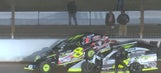 Kyle Strickler throws punches at David Stremme after DIRTcar wreck