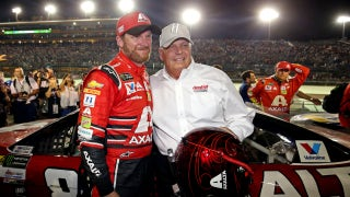 Dale Earnhardt Jr. shares special moment with Rick Hendrick after his last race | NASCAR VICTORY LANE