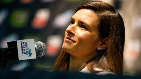 HOMESTEAD, FL - NOVEMBER 18:  Danica Patrick, driver of the #10 Aspen Dental Ford, practices for the Monster Energy NASCAR Cup Series Championship Ford EcoBoost 400 at Homestead-Miami Speedway on November 18, 2017 in Homestead, Florida.  (Photo by Jared C. Tilton/Getty Images)