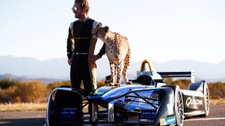 Which is faster: A Formula E car or a cheetah?
