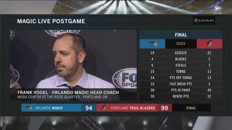 Frank Vogel after loss: We're small, they went even smaller
