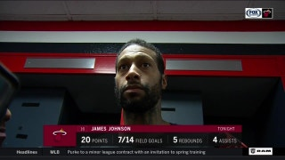 James Johnson was happy with game plan and hunger to win