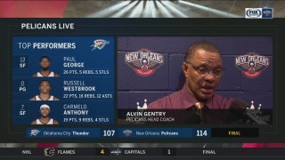 Alvin Gentry on being trouble early on in comeback win over OKC