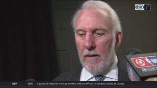 Gregg Popovich on Bryn Forbes in win over Hawks