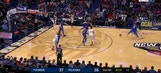MUST WATCH: Paul George with Slam Dunk Contest type move to the basket