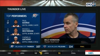 Billy Donovan on need for more consistency, loss to Pelicans