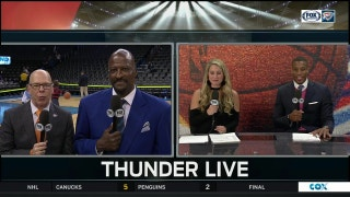 Playoff atmosphere for GSWOKC | Thunder Live