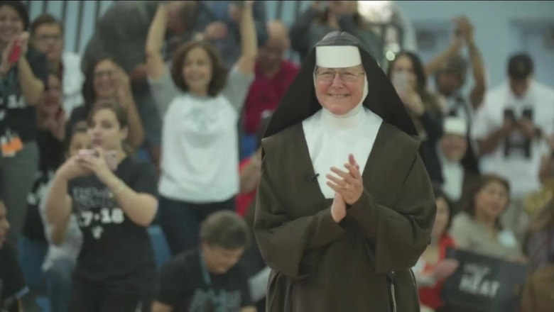 Miami Heat surprise 'chainsaw nun' at pep rally