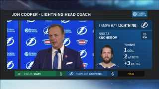 Jon Cooper: Our penalty kill really helped us tonight