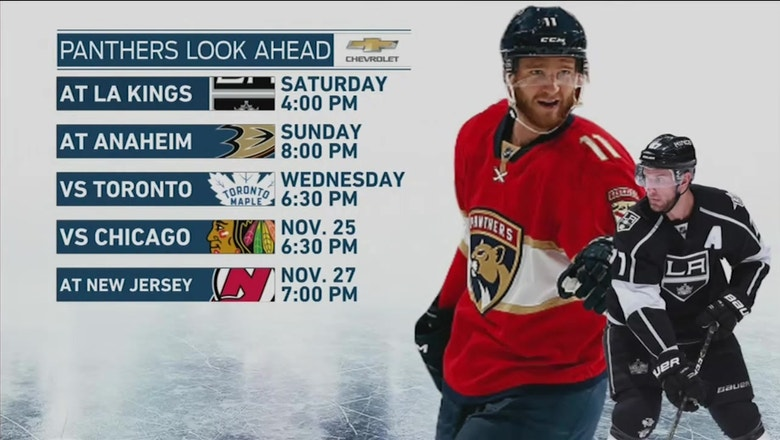 Jared McCann could be back in lineup as Panthers gear up for Kings, Ducks