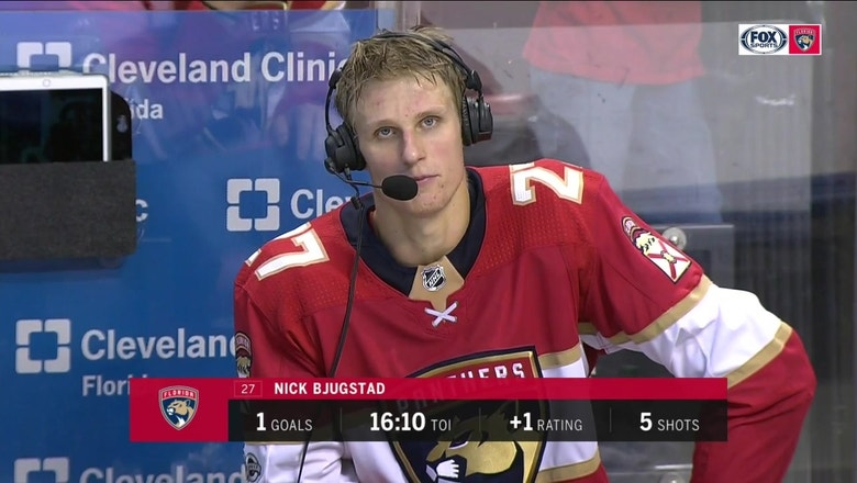 Nick Bjugstad on Haapala: 'He stepped right in and played well'