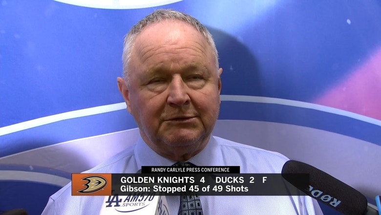 Randy Carlyle 'What we were doing out there was not anywhere near what we're capable'