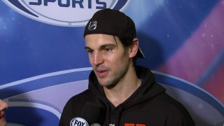 Antoine Vermette describes being honored in his 1000th NHL game