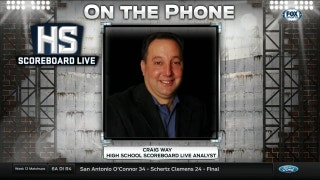 Craig Way on the Phone | High School Scoreboard Live