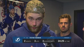 Victor Hedman says Lightning's defense set tone vs. Stars