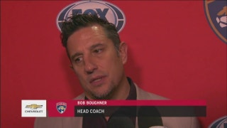 Bob Boughner happy with Panthers' play for most of the game