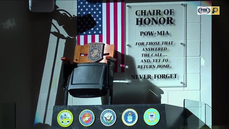 Pacers unveil POW-MIA Chair of Honor